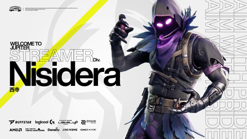 STREAMER部門 – Nisidera 加入