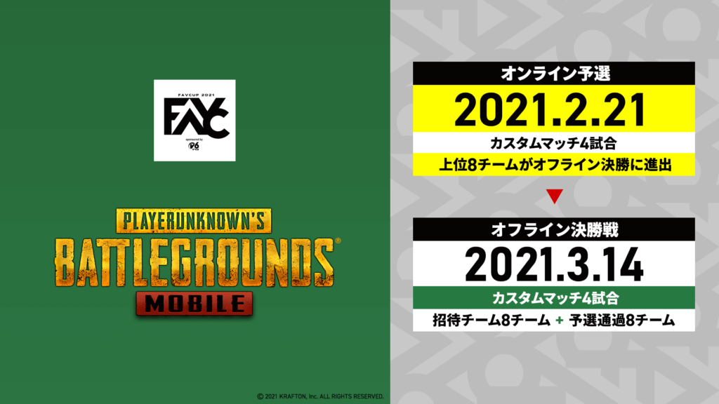 PUBG MOBILE – 『FAVCUP2021sponsored by v6プラス』結果報告