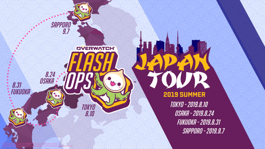 Overwatch – 8月24日に開催の『FLASH OPS 2019 SUMMER JAPAN TOUR』 大阪会場にCLAIREが出演 | See below for the English News